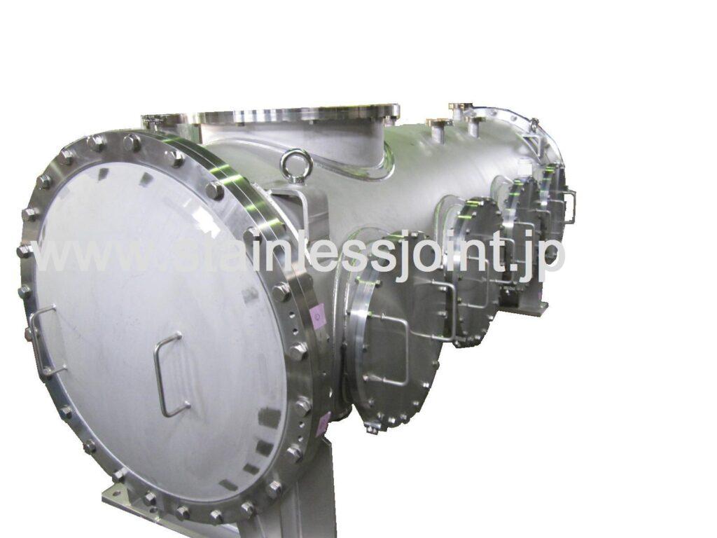 ステンレス(SUS304)極低温装置用真空チャンバー