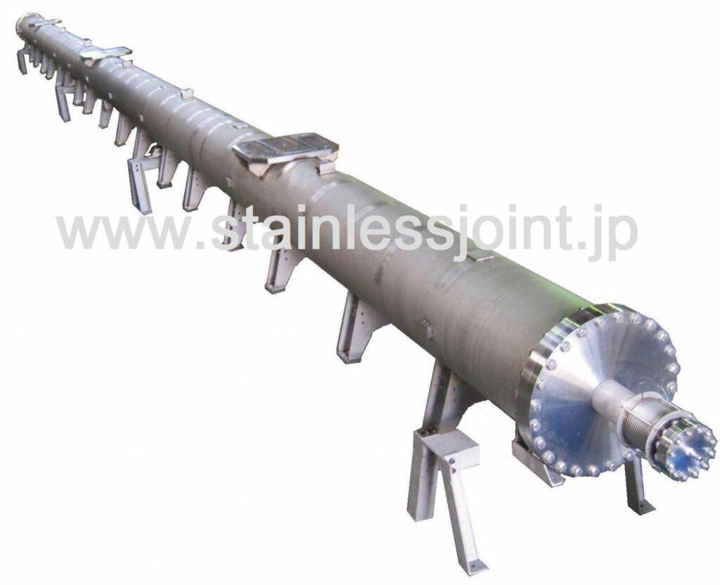 ステンレス(SUS316L)極低温ヘリウム冷却配管